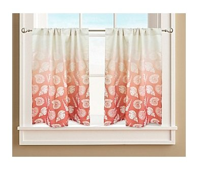 Colordrift Seascape Lined Window Curtain Tier Pair, 60