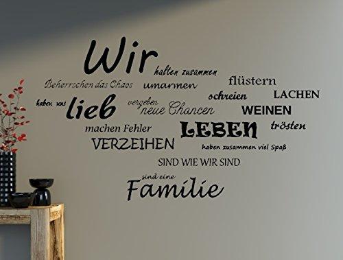 Wandtattoo Spruch Wir Familie Wandaufkleber Wohnzimmer Spruche