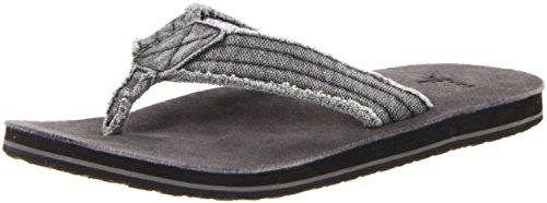 (Sanuk Men's Fraid Not Sandals Charcoal 10 & Oxy Shoe Cleaner Bundle )