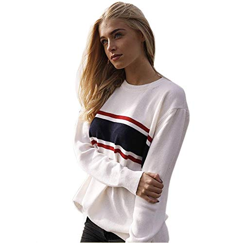a0a9245f75a Germinate White Sweaters Women Casual Work Christmas Holiday Crewneck  Knitted Pullover Plus Size (Beige
