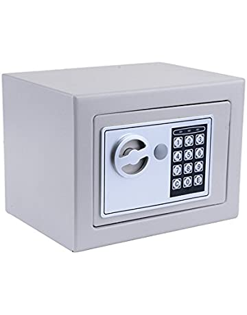 Digital Electronic Safe Security Box, Fireproof Deadbolt Lock Wall-Anchoring Safe Deposit Box for