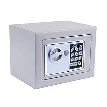 Homdox Caja de seguridad Nueva Digital electrónica barata (Gris)