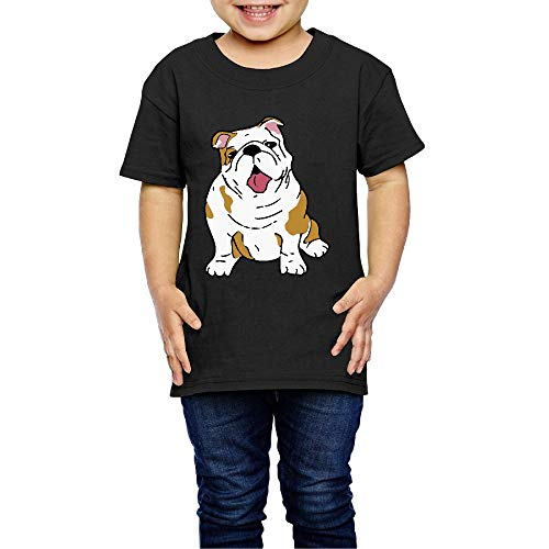 English Bulldog Costume Infant Kids Crew Neck Short Sleeve Shirt Tee Jersey for 2-6 Toddlers ()