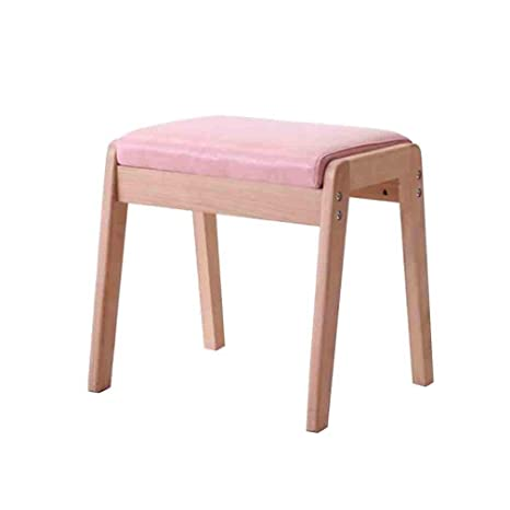 Amazon.com: YCSD - Banco de madera maciza con cojín, diseño ...