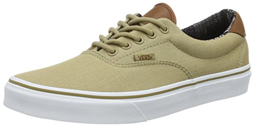 Vans Unisex Era 59 (C&L) Khaki/Material Mix Skate Shoe 10.5 Men US/12 Women US