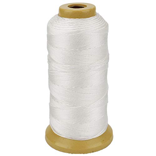 (656 Feet Twisted Nylon Line Twine String Cord for Gardening Marking DIY Projects Crafting Masonry (White, 1mm-656 feet))