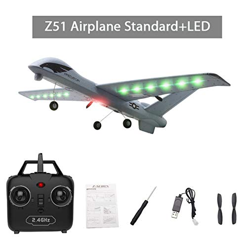 Studyset Flying Model Gliders RC Plane 2.4G 2CH Predator Z51 Remote Control RC Airplane Wingspan Foam Hand Throwing Glider Toy Planes (Predator Rc Plane)