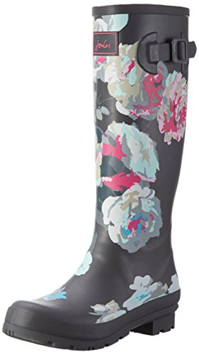 Bloom Joules Grau Grey Wellyprint Damen Gummistiefel Beau x0rt0Yqw