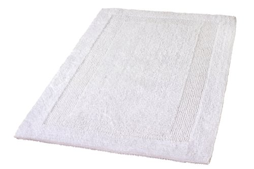 Kleine Wolke Eco Living Arizona Reversible Cotton Bathroom Rug (27.6x47.2in, Snow white) by Kleine Wolke