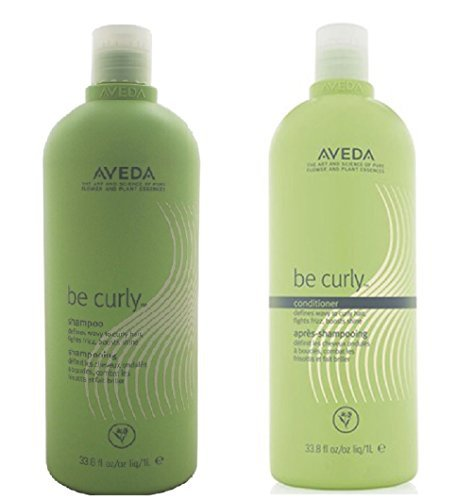 Aveda Be Curly Shampoo & Conditioner Liter 33.8 Oz Duo Set by Aveda