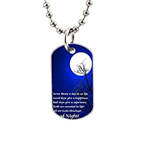 Never blame a day in ur life Custom image Oval Dog Tag Pet Tags Handmade Tags Cute Gift Ideal