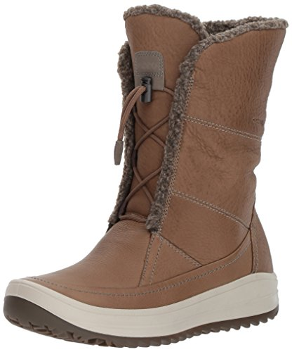 ECCO Women's Trace Tie Snow Boot, Birch/Birch, 41 EU/10-10.5 US by ECCO