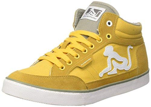 gray 003 Hautes Boston Classic Jaune Homme yellow Drunknmunky Baskets zqZw0