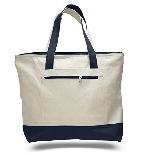 Deluxe Zippered Tote Bag - 18