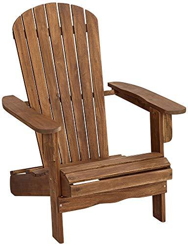 (Teal Island Designs Cape Cod Natural Wood Adirondack Chair)