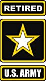 auto window decals army - United States Army Star Retired Decal Sticker 5.5