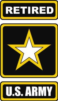 (Vinyl USA United States Army Star Retired Decal Sticker 3.8
