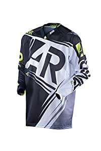 Answer-MX Alpha Air Motocross/OffRoad Adult Fade-Free Sublimated Fabrics Jersey,Black/Green,Small/SM