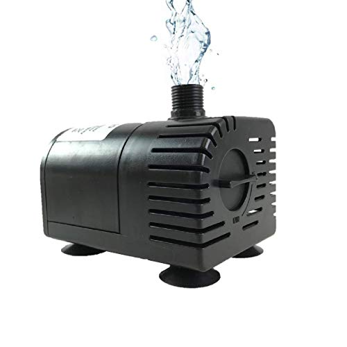 (AEO Dry-Run Protection 12V-24V DC Brushless Submersible Water Pump, 410GPH, for Solar Fountain, Fish Pond, and Aquarium )