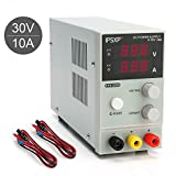 DC Power Supply, 0-30V / 0-10A IPSXP Portable Mini Adjustable Switching Regulated Digital Power Supply, with Alligator Leads and UK Power Cord