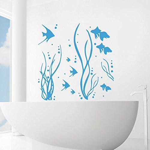 Fish Seaweed Wall Decals - Marine Life Wall Decor - Animal Bathroom Wall Art - Nautical  sc 1 st  Amazon.com & Amazon.com: Fish Seaweed Wall Decals - Marine Life Wall Decor ...