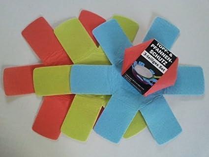 Protección para sartenes conjunto de 3, de fibra suave, diámetro de 37,5