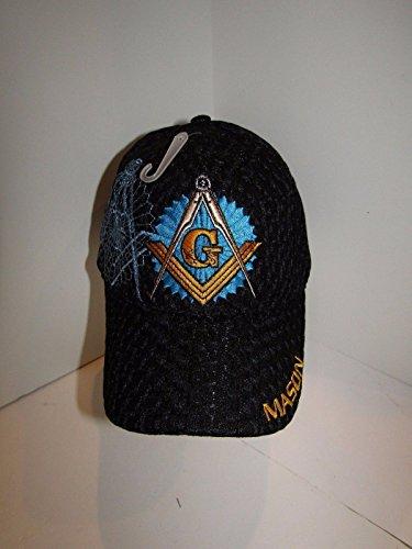 Mason Masons Freemason Masonic Lodge Black Shadow Mesh Texture Ball Cap Hat