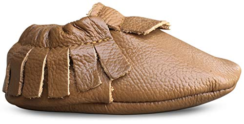 Lucky Love Baby Moccasins, Genuine Leather 18-24 Months / 6.5 M US Toddler- -