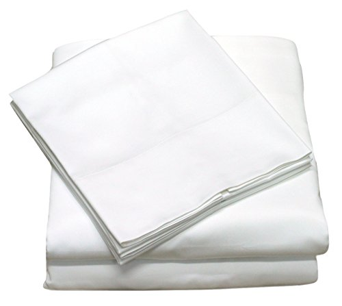 400 Thread Count 100% Cotton Sheet Set, Soft Sateen Weave,Full Sheets, Deep Pockets,Hotel Collection,Luxury Bedding-Bestseller- Super Sale 100% Cotton, Full White by Callista Fine Linen