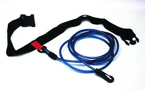 Water Gear Swimmer's Leash Stationary Cords Swim Pool Hip Belt Training