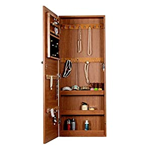 Amazon.com: Organizedlife Oak Wall Mount Over the Door ...