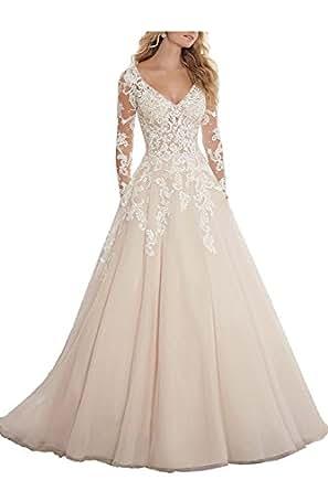 Amazon.com: Abaowedding Women's Wedding Dress for Bride