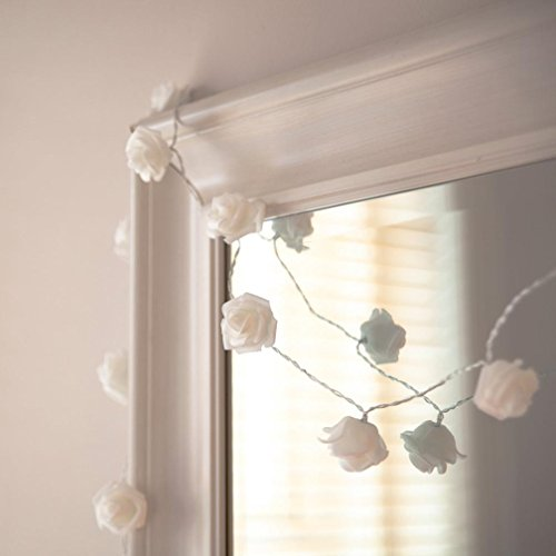 YJM 2 10 LED Romantic Rose String Lights For Bedroom Xmas Wedding Party WH by YJM (Image #1)