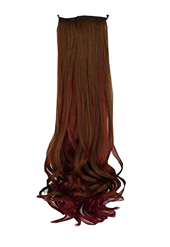 Brown Women Hair Extension/Hair Piece/Wig Long Curly Wave