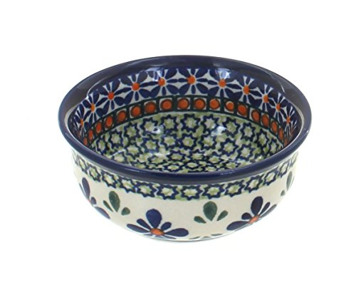 Polish Pottery Mosaic Flower Small Bowl