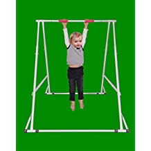 Home Workout Gymnastics Bar for Kids: Height Adjustable Chin up Bar Model KT1.0914, Foldable Kids Gymnastics Equipment Pull up Machine, Very Sturdy Exercise Bar, Durable Pull up Rack Tower