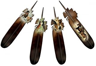product image for Next Innovations Feather Horse Refraxions 3D Wall Art, 4-Piece