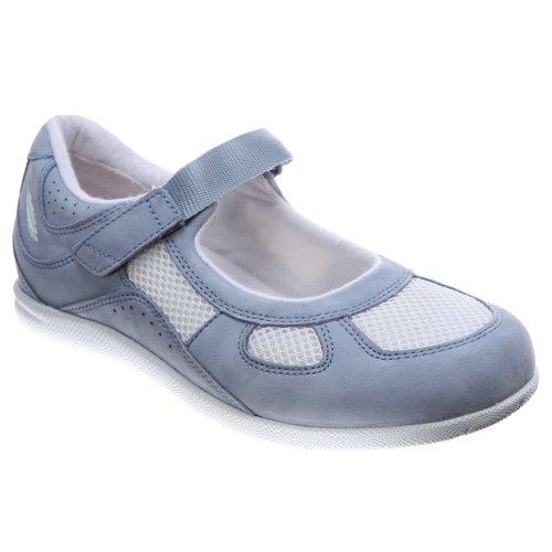 Drew Shoe Womens Delite Mary Jane Blue Sky Nubuck