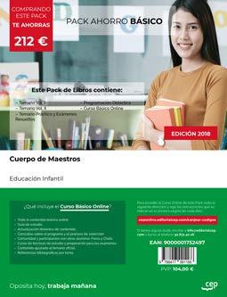 PACK AHORRO BÁSICO. Cuerpo de Maestros. Educación Infantil. Incluye Temario I, II, Temario Práctico y Exámenes Resueltos y Programación Didáctica + Curso BÁSICO Online: Amazon.es: CEP: Libros