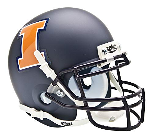 NCAA Illinois Fighting Illini Collectible Alt 1 Mini Helmet, Matte Navy