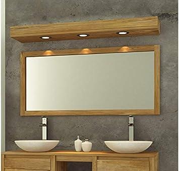 Les Authentics Miroir de Salle de Bain Teck Massif 140 X 70