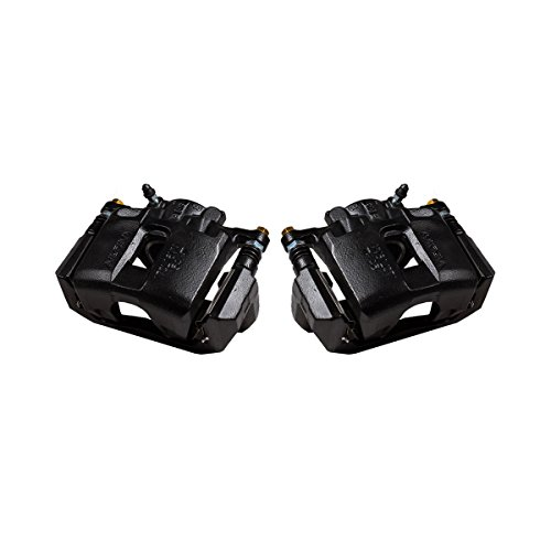 CK00337 [ 2 ] FRONT Performance Grade Black Powder Coated Semi-Loaded Caliper Assembly Pair
