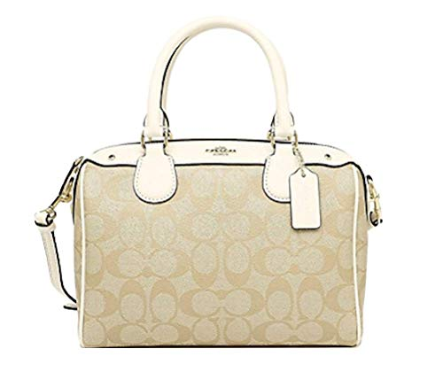New Coach Signature Mini Bennet Satchel (Light khaki/Chalk)