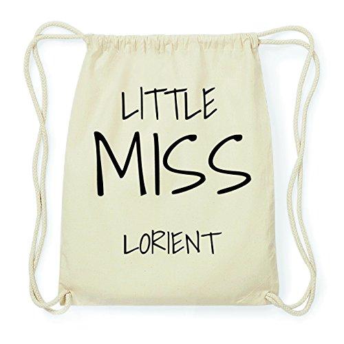 JOllify LORIENT Hipster Turnbeutel Tasche Rucksack aus Baumwolle - Farbe: natur Design: Little Miss