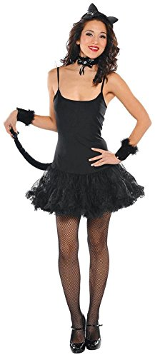 [Adult Costume Accessory Set - Black Kitty] (Kitty Accessory Kit)