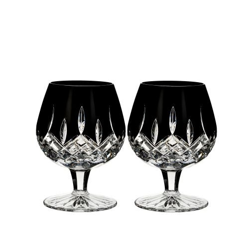 Waterford Lismore Black Brandy Glasses Set of 2