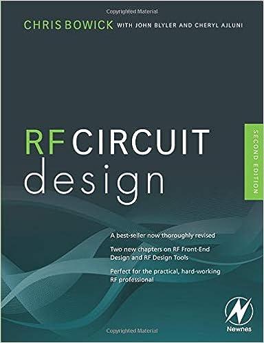 RF Circuit Design: Christopher Bowick: 8601419413652: Amazon