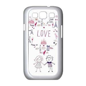 Samsung Galaxy S3 9300 Cell Phone Case White CITY OF LOVE OJ434900