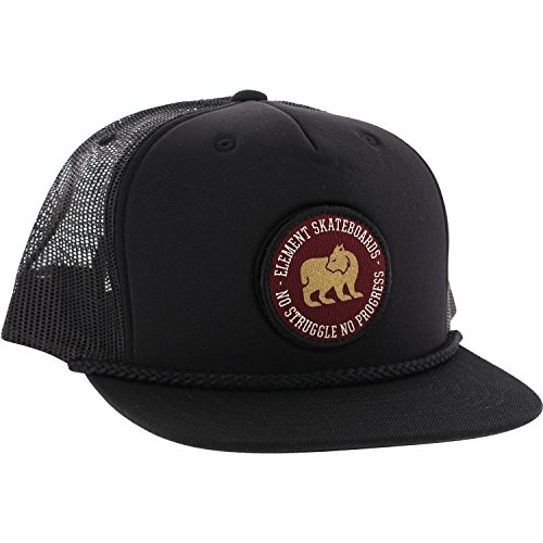 element-skateboards-westgate-flint-black-snapback-hat-adjustable