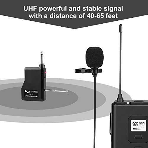 Wireless Microphone System,Fifine Wireless Microphone set with Headset & Lavalier Lapel Mics, Beltpack Transmitter&Receiver,Ideal for Teaching, Preaching and Public Speaking Applications.(K037B) - Image 2